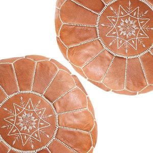 Leather Moroccan Poufs